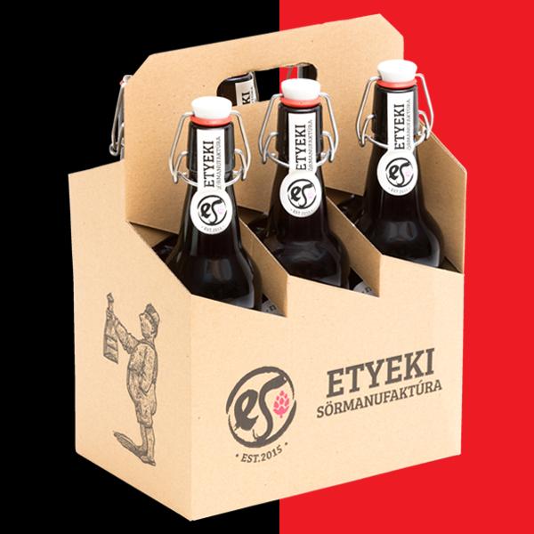 Vörös-fekete etyeki sörcsomag - 6db